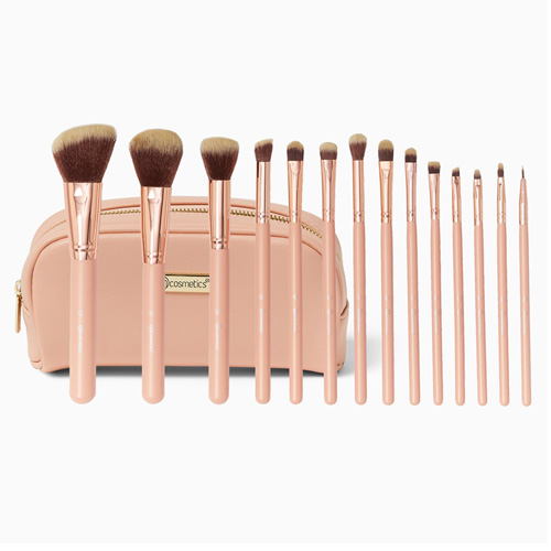 BH Chic 14 Piece Brush Set with Bag