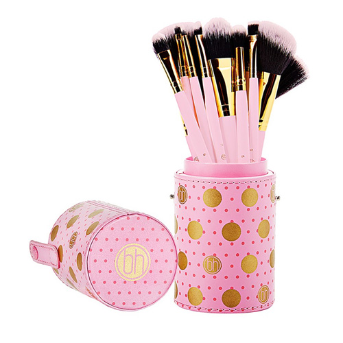 BH Dot Collection 11 Piece Brush Sets Pink