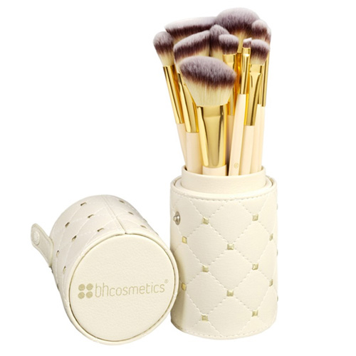 Studded Couture 12 Piece Brush Set with Holder